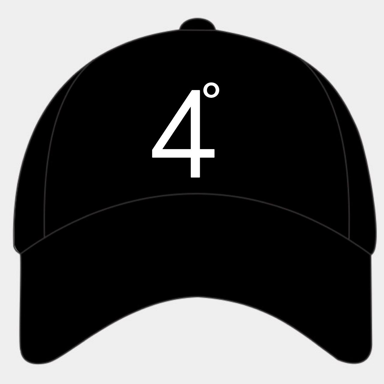 Four Degrees Strapback Dad Hat – Black
